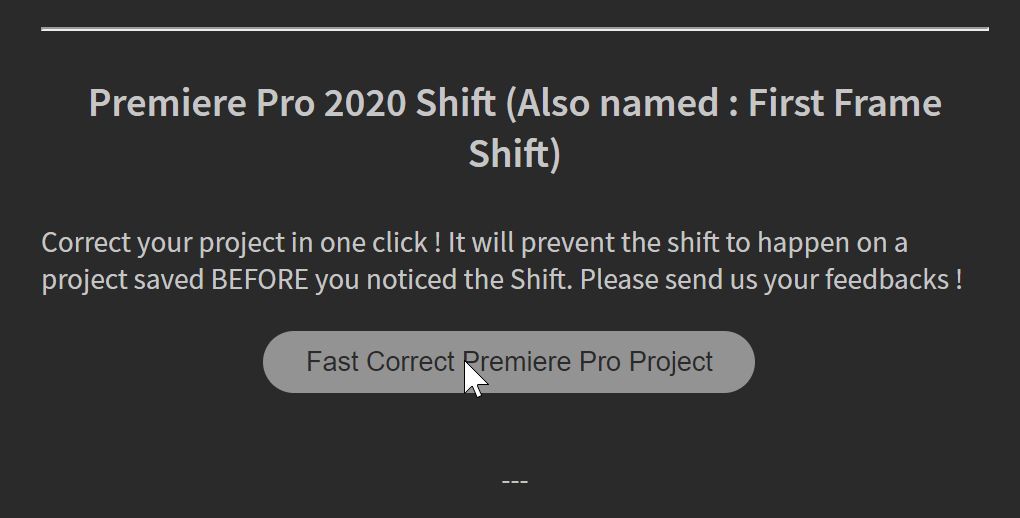 BRAW Studio Panel Automatic Fix 200 Shift Premiere Pro